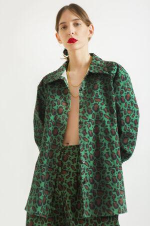 Green Leopard Unisex Shirt